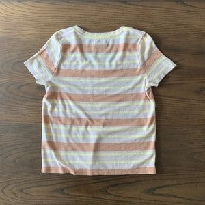 Madewell Tops - Madewell Alto Stripe Scoop Neck Shirt Size Small